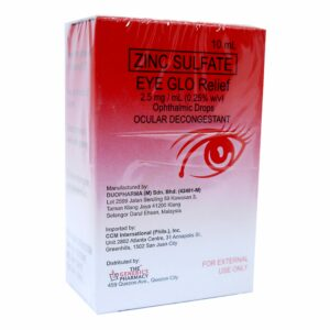 Zinc Sulfate EYE GLO Relief Drops 10ml 2