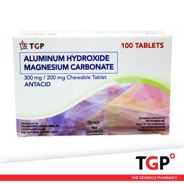 Aluminum + Magnesium Chewable Tab 300mg200mg (TGP)-100