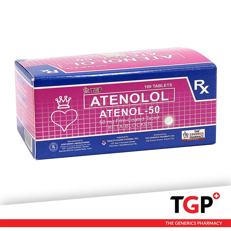 Atenolol Tab 50mg (ATENOL-50)-100