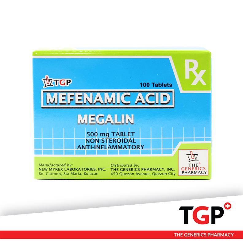 Mefenamic Tab 500mg (MEGALIN)-100