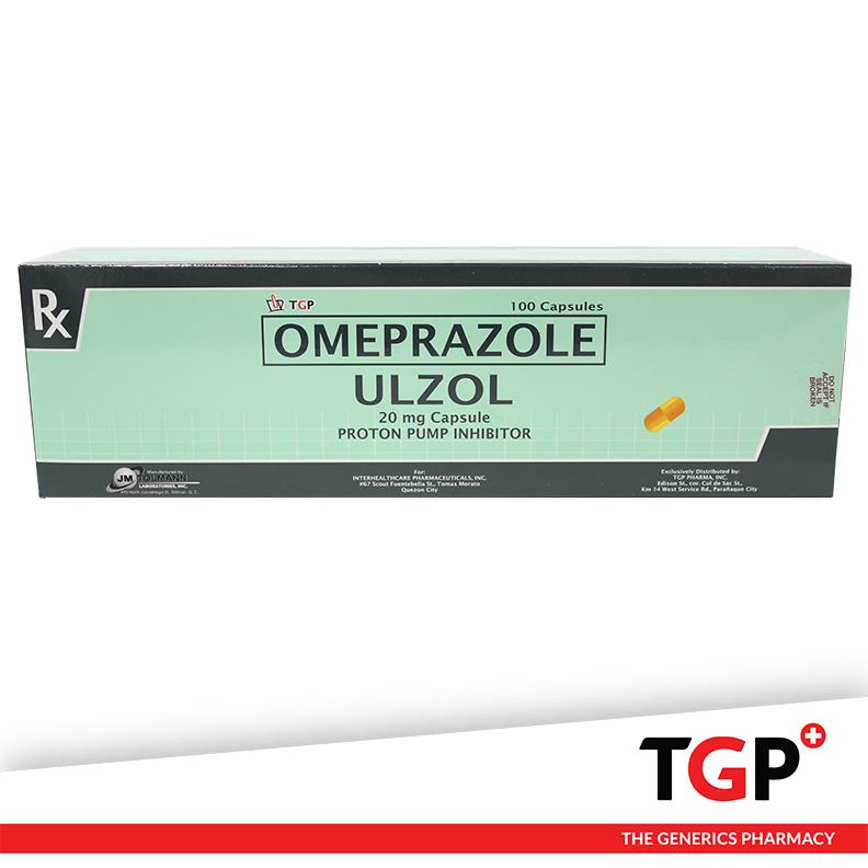 Omeprazole Cap 20mg (ULZOL)-100