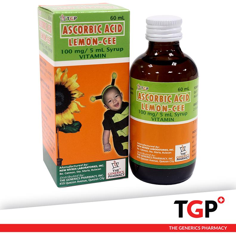 Ascorbic Acid Syrup Philippines (LEMON-CEE) 100mg/5ml 60ml