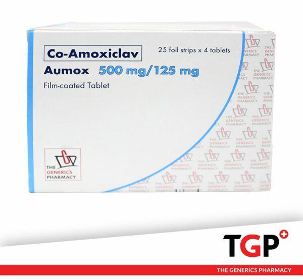 Co-Amoxiclav Tab 500mg125mg (AUMOX T625 SANDOZ)-100