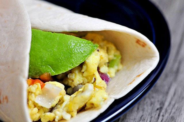 Egg and Avocado Burrito