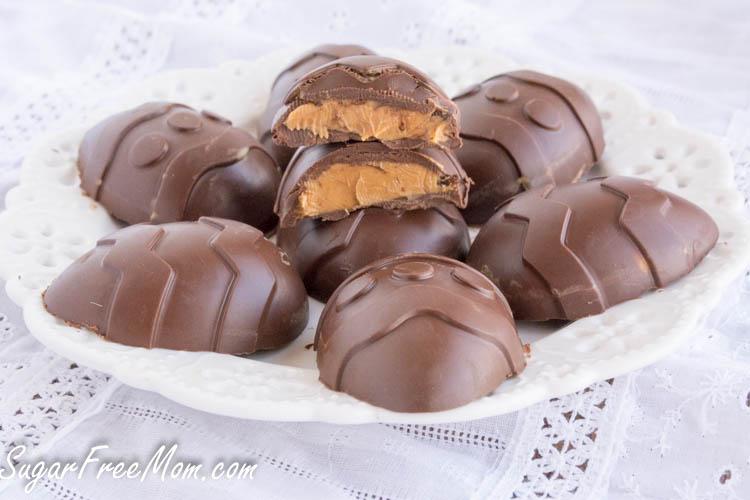 Sugar Free Chocolate Peanut Butter Easter Eggs